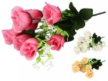 Bukiet kwiatów sztucznych 9 gł.