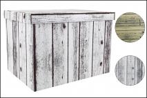 Pudełko dekoracyjne pak. 1 szt. stretch karton 460x320x330mm, drewno
