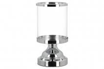 Świecznik szklany 12,2x24cm