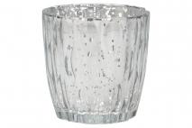 Świecznik szklany 9x9cm
