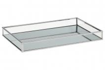 Tacka z lustrem 29x18x3cm metal + szkło