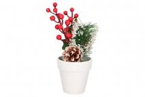 Kwiat sztuczny w doniczce 26cm