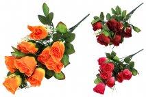 Bukiet kwiatów sztucznych 38cm, 9gł.