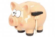 Skarbonka ceramiczna - świnka 16x18x22cm