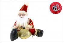 Ozd.boż. Mikołaj siedzący z pozytywką 40cm