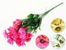 Bukiet kwiatów sztucznych 40cm, 7 gł. 4 kolory