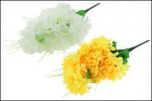 Bukiet kwiatów sztuczny, chryzantema 14 główek, 40cm, mix 2 kolory