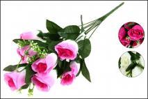 Bukiet kwiatów sztucznych róża 45cm, 8gł