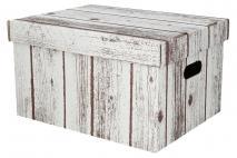 Pudełko dekoracyjne pak. 1 szt. stretch karton 320x250x185mm, drewno
