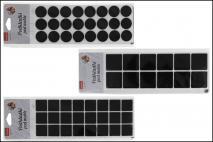Kpl Podkładki filcowe pod meble 25,5x8cmx0,25mm, mix 3 wzory