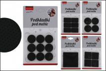 Kpl Podkładki filcowe pod meble 8,5x8,5cm, mix 6 wzorów