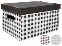 Pudełko dekoracyjne pak. 1 szt. stretch karton 350x260x210mm, krata