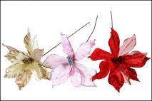 Kwiat dekoracyjny mix czerwony, złoty, szampański