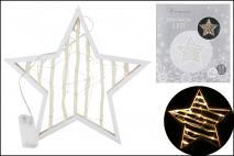 Gwiazda drewniana z lampkami LED 33cm