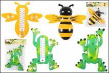 Termometr okienny - MIX żaba, pszczoła