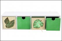 Organizer drewniany z szufladami 44x12x12cm