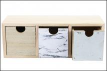 Organizer drewniany z szufladami 27,5x9x10cm
