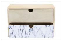 Organizer drewniany z szufladami 26x9,5x18cm