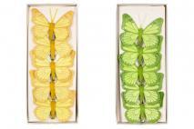 Wielk. Motyle na klipsie 6 szt. 8cm