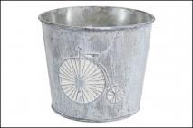 Osłonka metalowa na doniczkę 13x11cm