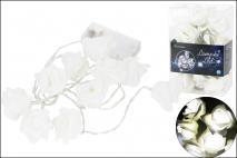 Lampki dekoracyjne 10LED - róża 15cm zimne światło