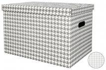 Pudełko dekoracyjne pak. 1 szt. stretch karton 460x320x330mm, pepitka