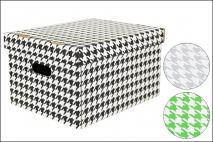 Pudełko dekoracyjne pak. 1 szt. stretch karton 320x250x185mm, pepitka