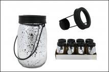 Świecznik szklany z uchwytem 8,5x13,5cm