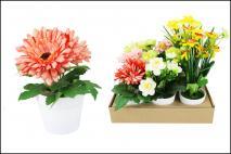 Kwiat sztuczny w doniczce, mix