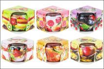 Świeca zapachowa 70g owoce mix 6 zapachów