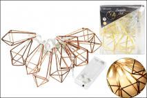 Lampki dekoracyjne LED metalowe, czarne, złote
