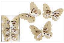 Kpl Motyl na klipsie 3szt, 12cm