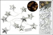 Lampki dekoracyjne 10LED - gwiazdki