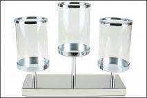 Świecznik szklany 37x28cm
