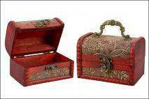 Pudełko drewniane na biżuterię 12x8x8,5cm