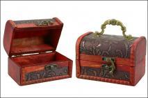 Pudełko drewniane na biżuterię