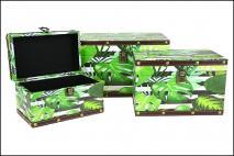 Kpl Ozdobne pudełko do przechowywania 3szt, drewno