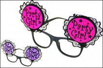 Okulary karnawałowe czerwony, fukcja, fioletowy