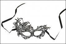 Maska karnawałowa czarna