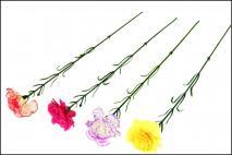 Kwiat sztuczny 45cm goździk
