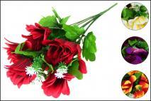 Bukiet kwiatów sztucznych 10gł.