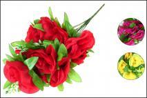 Bukiet kwiatów sztycznych 45cm, 10gł.