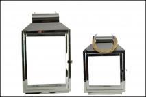 Kpl Latarnia metalowa 2szt 20,5x15x29cm, 25,5x18x43cm