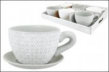 Doniczka ceramiczna filiżanka 18,5x14,2x9cm