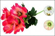 Bukiet kwiatów sztucznych 30cm, 5gł.