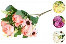 Bukiet kwiatów sztucznych 26cm, 9gł.