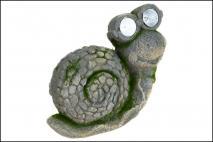 Figura solarna żaba 26,5x12,5x21cm magnesia