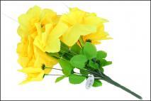 Bukiet kwiatów sztucznych - żonkil 18gł.