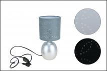 Lampka ceramiczna 28x13cm biała, czarna, szara