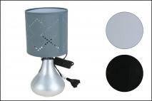 Lampka ceramiczna 27x13cm biała, czarna, szara